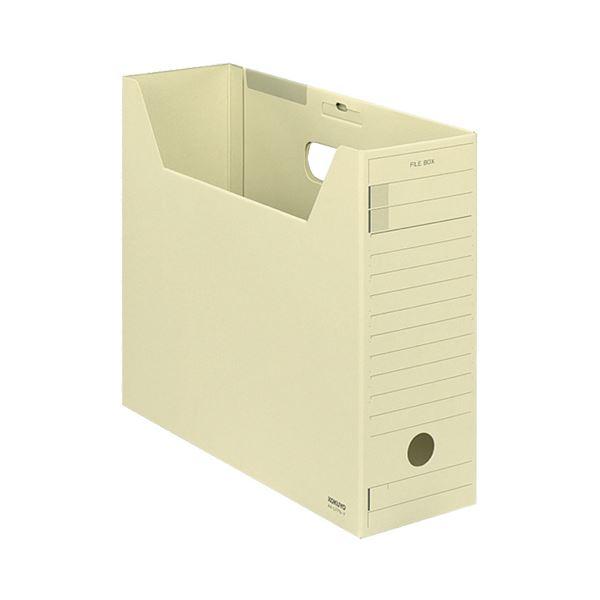 (まとめ) コクヨファイルボックス-FS(Fタイプ) A4ヨコ 背幅102mm 黄 フタ付 A4-LFFN-Y 1セット(5冊) 【×10セット】