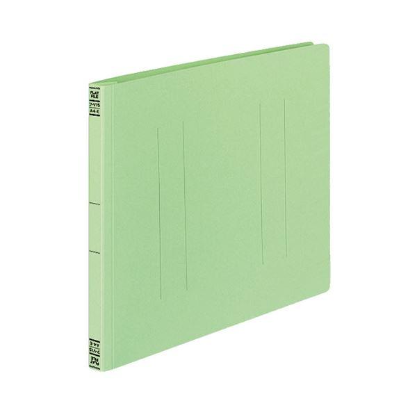 【スーパーセールでポイント最大44倍】(まとめ) コクヨ フラットファイルV(樹脂製とじ具) A4ヨコ 150枚収容 背幅18mm 緑 フ-V15G 1パック(10冊) 【×10セット】