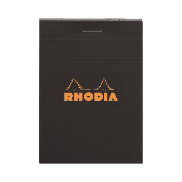 (まとめ) ロディア ブロックロディア No.11105×74mm 5mm方眼 黒 80枚 cf112009 1冊 【×50セット】