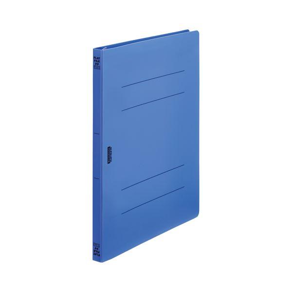 (まとめ)ビュートン フラットファイルPP A4S Rブルー FF-A4S-RB【×200セット】