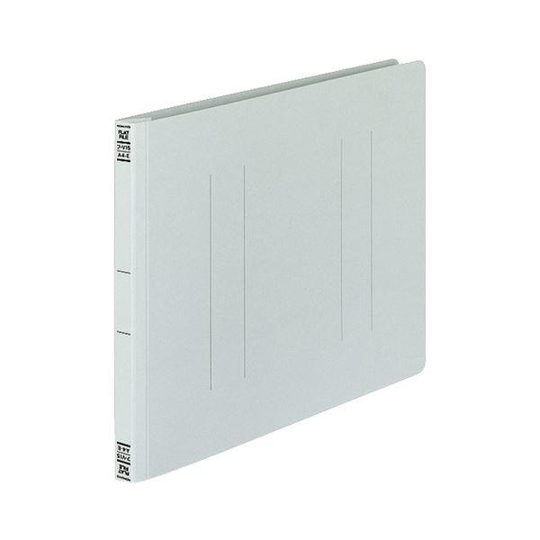 (まとめ) コクヨ フラットファイルV(樹脂製とじ具) A4ヨコ 150枚収容 背幅18mm グレー フ-V15M 1パック(10冊) 【×10セット】