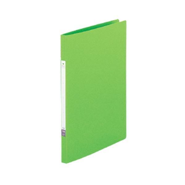 (まとめ) リヒトラブ リクエストパンチレスファイル A4タテ 120枚収容 背幅15mm 黄緑 G1210-6 1冊 【×50セット】