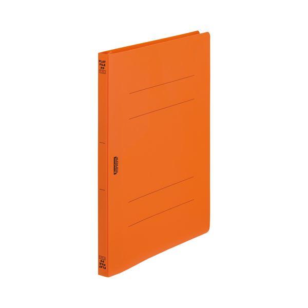 【スーパーセールでポイント最大44倍】(まとめ)ビュートン フラットファイルPP A4S オレンジFF-A4S-OR【×200セット】