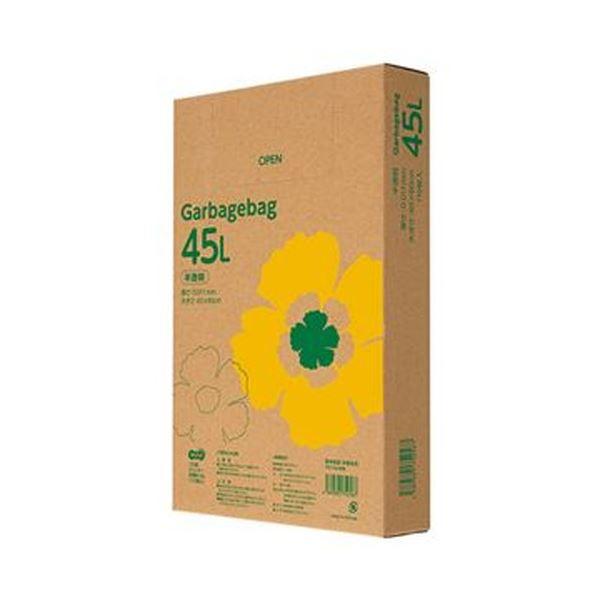 (まとめ)TANOSEE ゴミ袋エコノミー 半透明 45L BOXタイプ 1箱(110枚)【×20セット】