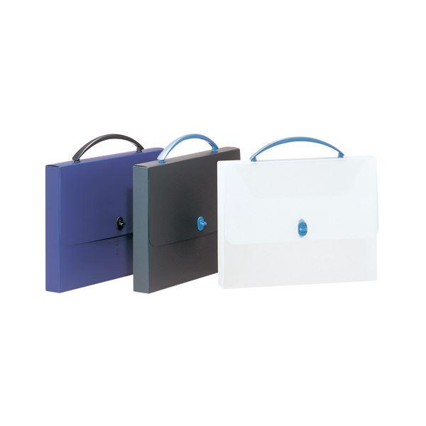 (まとめ) ライオン事務器 デザインケース A4透明/ブルー DS-253 1個 【×10セット】