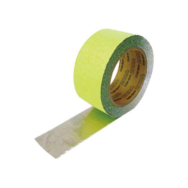 (まとめ)カーボーイ すべり止めテープ ザラザラ 蓄光 50mm×5m【×10セット】