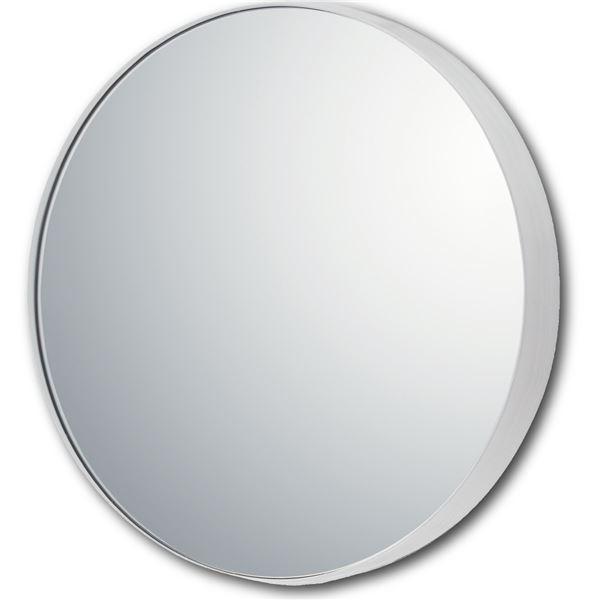 【スーパーセールでポイント最大44倍】スリムラインミラー ラウンド(M)グロスホワイト