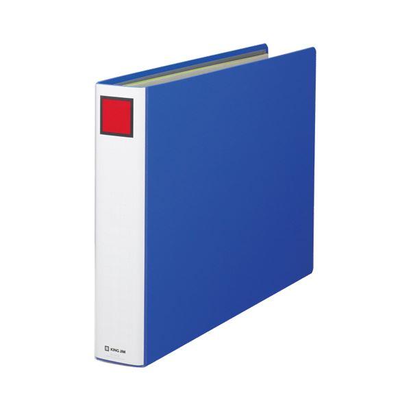 (まとめ) キングファイル スーパードッチ A3ヨコ 600枚収容 背幅76mm 青 1506E 1冊 【×10セット】