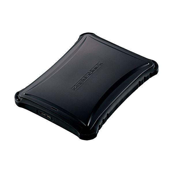 エレコムZEROSHOCKポータブルハードディスク 1TB ブラック ELP-ZS010UBK 1台
