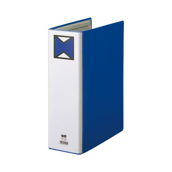 【スーパーセールでポイント最大44倍】(まとめ) TANOSEE パイプ式ファイル 片開き A4タテ 800枚収容 背幅96mm 青 1冊 【×10セット】