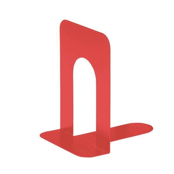 (まとめ) TANOSEE ブックエンド T型 特大 コーラルレッド 1組(2枚) 【×30セット】