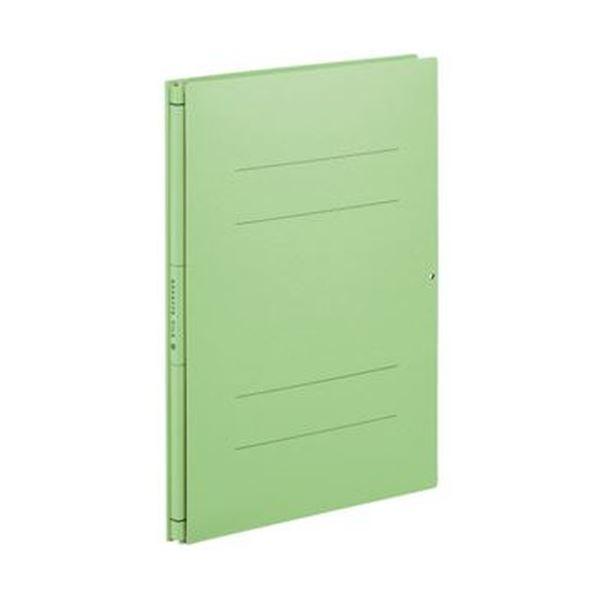 (まとめ)コクヨ ガバットファイル(中抜き 紙製)A4タテ 1000枚収容 背幅14~114mm 緑 フ-VN90G 1セット(10冊)【×3セット】