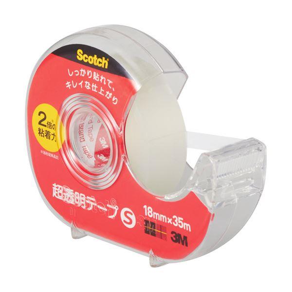 (まとめ) 3M スコッチ 超透明テープS 600小巻 18mm×35m ディスペンサー付 600-1-18DN 1個 【×30セット】