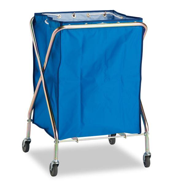 ダストカーSD/運搬カート 【小 容量:約132L】 本体、袋セット 折りたたみ式 〔工場 デパート スーパー 店舗 オフィス 施設〕