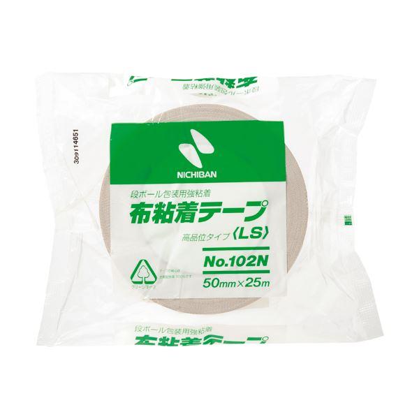 (まとめ) ニチバン 布粘着テープ 50mm×25m 黄土 102N7-50 1巻 【×30セット】