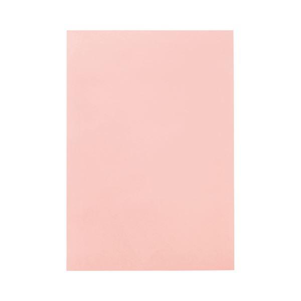 【スーパーセールでポイント最大44倍】(まとめ) TANOSEE 色画用紙 八つ切 うすもも 1パック(10枚) 【×50セット】