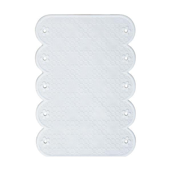 (まとめ)ワイズ スベリを防ぐ手すりマット20×28cm ホワイト BW022 1枚【×10セット】
