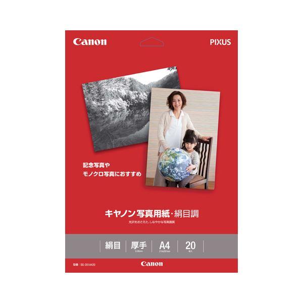 (まとめ) キヤノン Canon 写真用紙・絹目調 印画紙タイプ SG-201A420 A4 1686B005 1冊(20枚) 【×10セット】