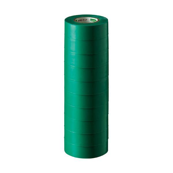 (まとめ) オカモト ビニールテープ No.470 19mm×10m 緑 No.470-19x10 ミドリ 1パック(10巻) 【×30セット】