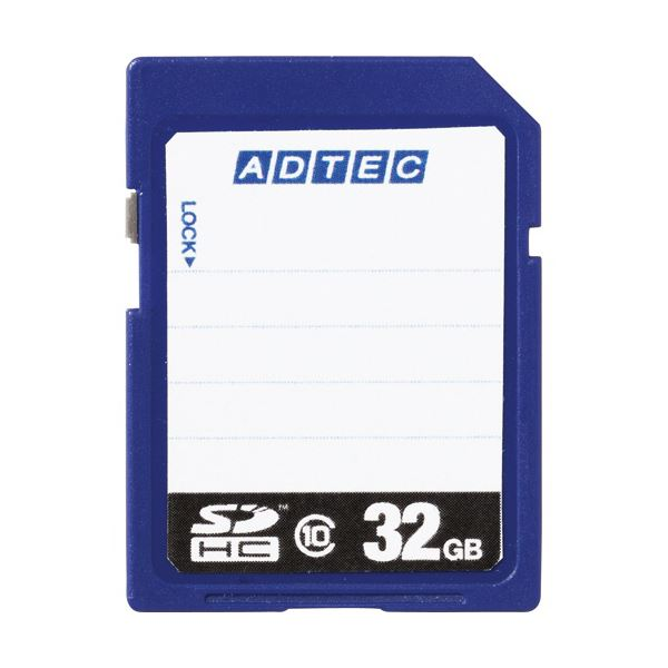 (まとめ) アドテック SDHCメモリカード32GB Class10 インデックスタイプ AD-SDTH32G/10R 1枚 【×5セット】