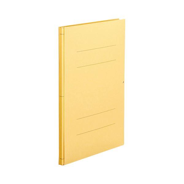 (まとめ) TANOSEE 背幅伸縮フラットファイル A4タテ 1000枚収容 背幅13~113mm 黄 1セット(10冊) 【×5セット】