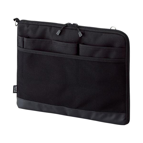 (まとめ) リヒトラブ SMART FITACTACT バッグインバッグ (ヨコ型) A4 ブラック A-7681-24 1個 【×10セット】
