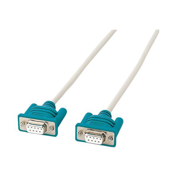 (まとめ) サンワサプライ RS-232Cケーブルインタリンク クロス D-Sub9pinメス 3.0m KR-LK3 1本 【×10セット】