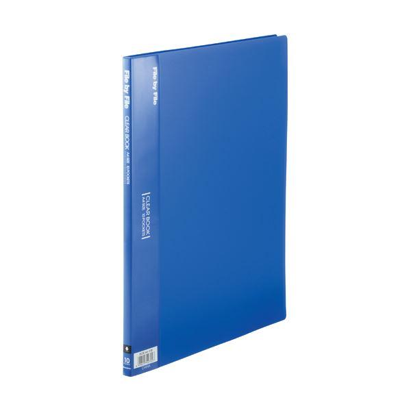 【スーパーセールでポイント最大44倍】(まとめ) ビュートン クリヤーブック(クリアブック) A4タテ 10ポケット 背幅9mm ブルー BCB-A4-10B 1冊 【×50セット】