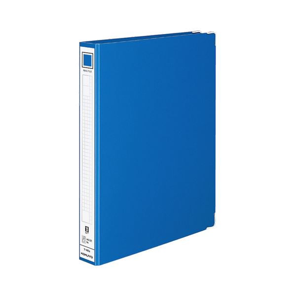 【スーパーセールでポイント最大44倍】(まとめ) コクヨ リングファイル 色厚板紙表紙 A4タテ 2穴 220枚収容 背幅44mm 青 フ-480B 1冊 【×30セット】