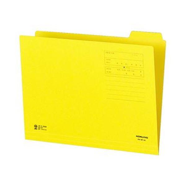(まとめ)コクヨ 1/4カットフォルダー(カラー)A4 第4見出し 黄 A4-4F-4Y 1セット(10冊)【×20セット】