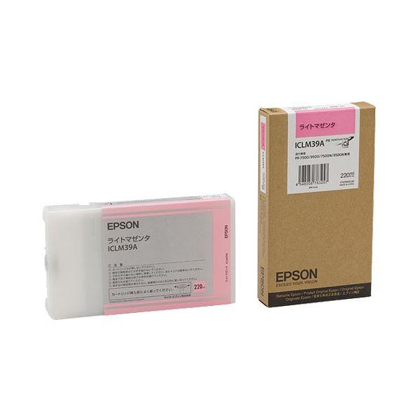 (まとめ) エプソン EPSON PX-P/K3インクカートリッジ ライトマゼンタ 220ml ICLM39A 1個 【×3セット】