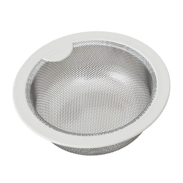 (まとめ) 排水口カバー/キッチン用品 【流し用 ステンレス浅型ゴミカゴ】 直径145mm用 【×20個セット】