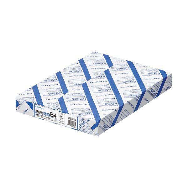 (まとめ)コクヨ KB用紙(共用紙) B4KB-34N 1箱(2500枚:500枚×5冊)【×3セット】