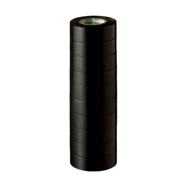 【スーパーセールでポイント最大44倍】(まとめ) オカモト ビニールテープ No.470 19mm×10m 黒 No.470-19x10 クロ 1パック(10巻) 【×30セット】