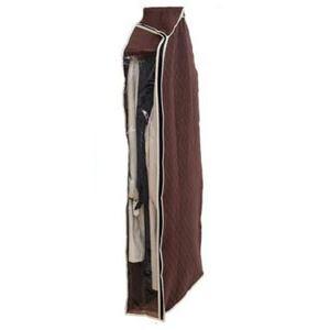 (まとめ) 洋服カバー/衣類収納カバー 【ロング】 着丈約120cm迄 コート・ワンピース用 炭入り消臭 透明窓付き 【×26個セット】