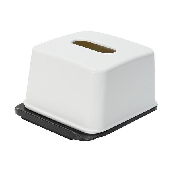 (まとめ)吉川国工業所 ハーフティッシュボックス ホワイト RP-04 1個【×20セット】