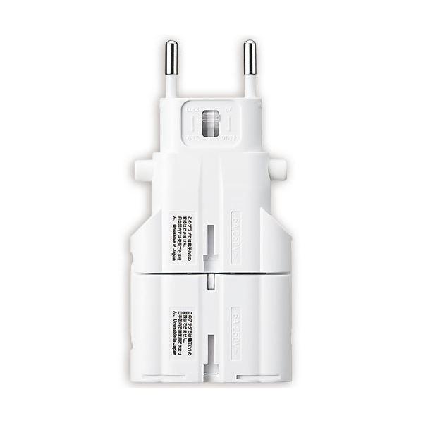(まとめ) サンワサプライ 海外電源変換アダプタホワイト TR-AD4W 1個 【×5セット】