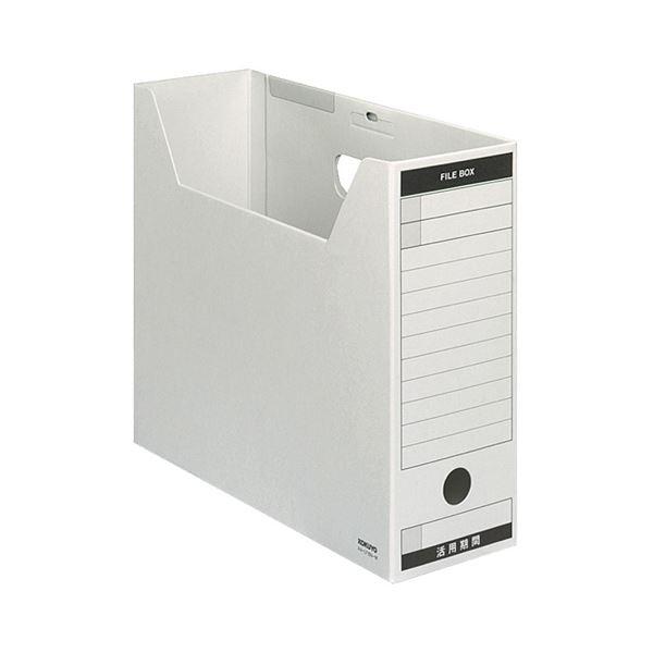 (まとめ) コクヨ ファイルボックス-FS(Bタイプ) A4ヨコ 背幅102mm グレー フタ付 A4-LFBN-M 1パック(5冊) 【×10セット】