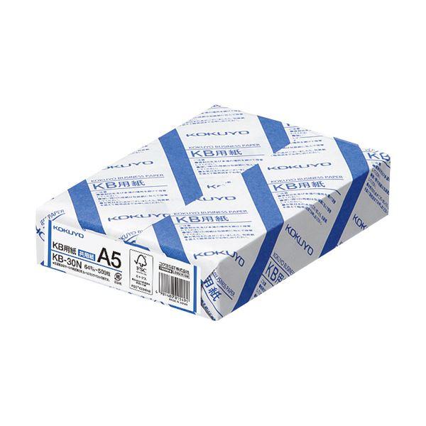 (まとめ)コクヨ KB用紙(共用紙) A5KB-30N 1箱(5000枚:500枚×10冊)【×3セット】