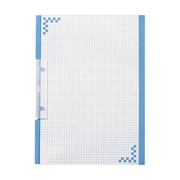 (まとめ) ヒサゴ 折り込み下敷き付キャリーバインダー A4タテ ブルー BH01A4B 1箱(5冊) 【×10セット】