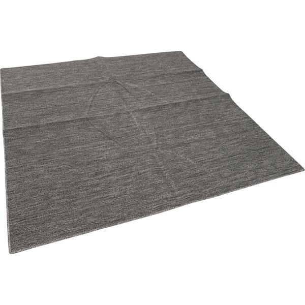 カーペット ラグ 平織 抗菌 ペットの爪が引っかかりにくい レベルカット / 江戸間 6畳 261×352cm ブラック 日本製 ソレイユ 九装