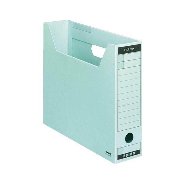 (まとめ) コクヨファイルボックス-FS(Bタイプ) A4ヨコ 背幅75mm 青 A4-SFBN-B 1セット(5冊) 【×10セット】
