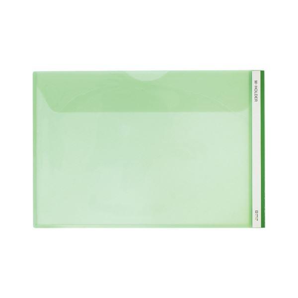 (まとめ) キングジム Mホルダー 緑 [縦216×横318×マチ10mm]【×50セット】