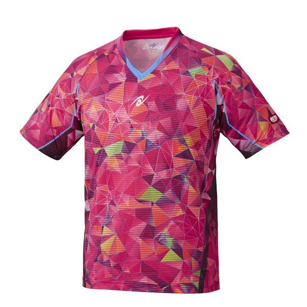 【スーパーセールでポイント最大44倍】Nittaku(ニッタク) 卓球ゲームシャツ MOVESTAINED SHIRT ムーブステンドシャツ 男女兼用ピンク3S
