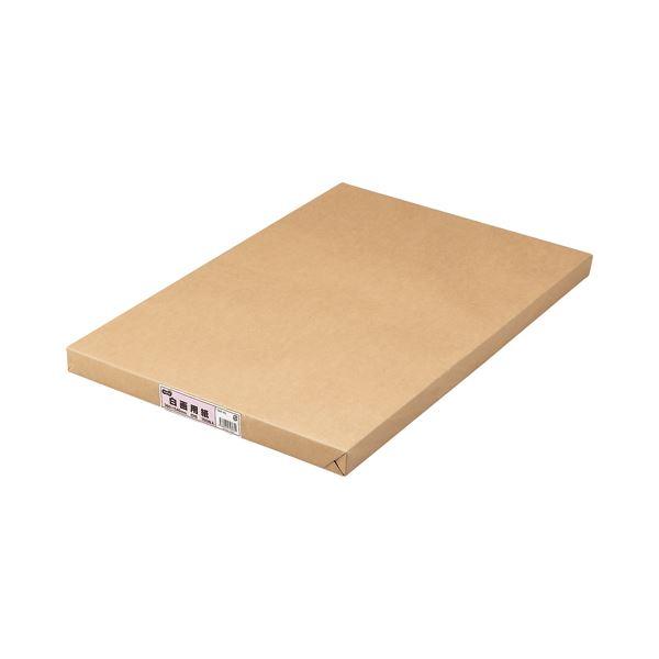 (まとめ) TANOSEE 白画用紙 四つ切 業務用パック 1パック(100枚) 【×5セット】
