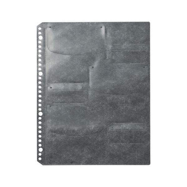 (まとめ) サンワサプライブルーレイディスク対応A4リフィルシート A4タテ 30穴 6ポケット ブラック FCD-RLBD30BK1パック(5シート) 【×10セット】