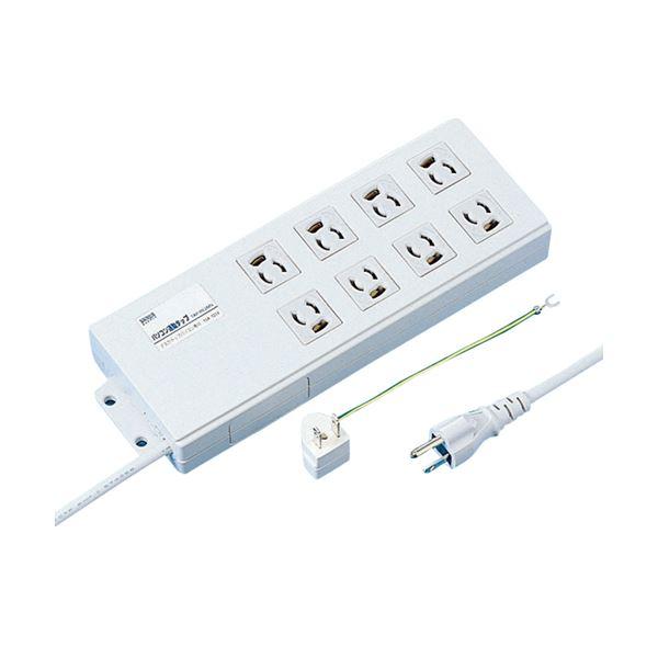 新方式でほぼ全てのデスクトップパソコンに対応するマイコン連動式。パソコンの電源に連動して周辺機器の電源を入切できるタップ。抜け止め8個口、ボックス形状。 (まとめ)サンワサプライ パソコン連動タップ3P・8個口 2.0m TAP-RE2MN 1個【×3セット】