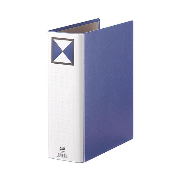 【スーパーセールでポイント最大44倍】(まとめ) TANOSEE 両開きパイプ式ファイル A4タテ 800枚収容 背幅96mm 青 1冊 【×10セット】