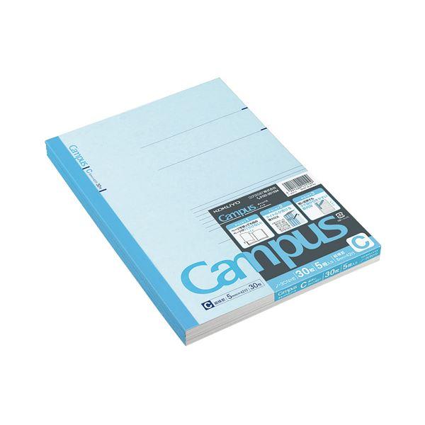 コクヨ キャンパスノート(細横罫)セミB5 C罫 30枚 ノ-3CNX5 1セット(180冊:5冊×36パック)
