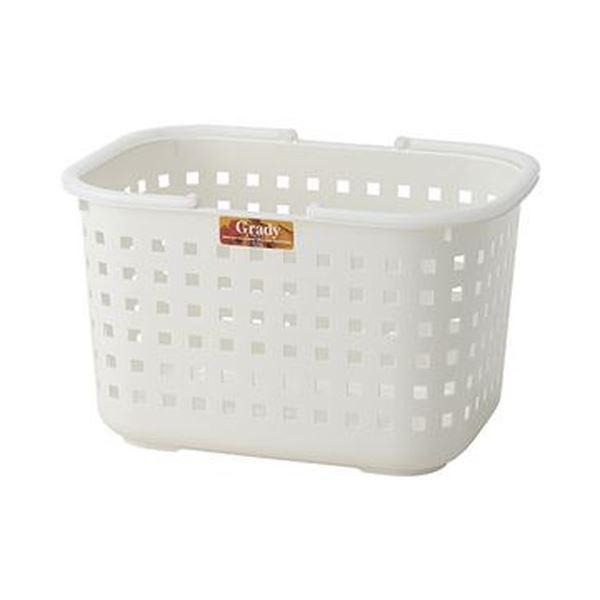 (まとめ)アスベル グレディバスケット Mクリアホワイト 1個【×20セット】